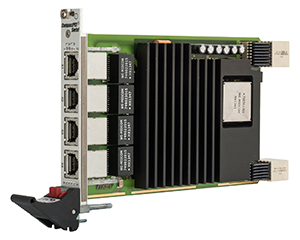 G304 - 3U CompactPCI® Serial Industrial Ethernet Switch with PoE+