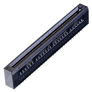 AdvancedMC connector for MicroTCA backplanes